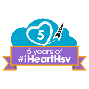 #iHeartHsv logo 5th Anniversary