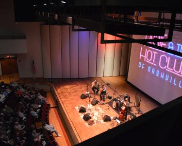 Ogle Center concert from above