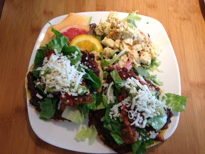 Trellis Food Black Bean Yam Tostadas