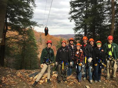finger-lakes-bristol-mountain-canopy-tours-canandaigua-groupshot-zipline-overhead