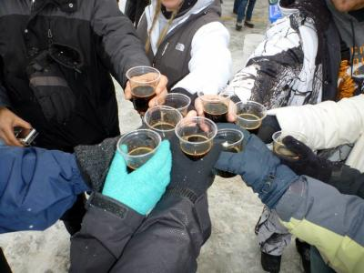 A Toast at Grand Rapid Winter Beer Festival