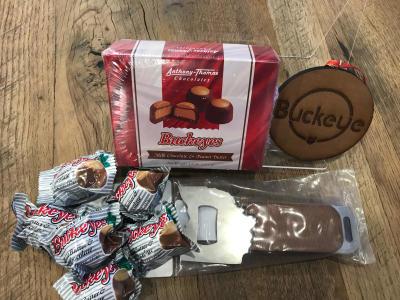 buckeye themed visitor center merchandise