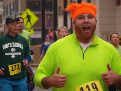 Runner Irish Fest 5k Fun Run Topeka Kansas