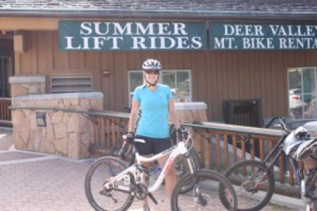 Amy at DVR bike school