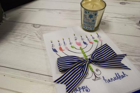 Hanukkah items at Under the Pecan Tree