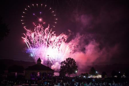 Riverfest Fireworks in St. Charles