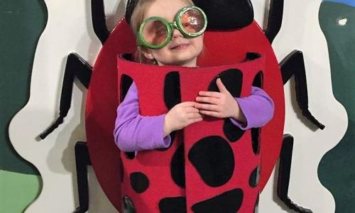Children's Museum Girl with Ladybug Costume