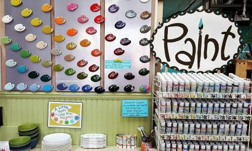 Creative Sparks and Balloonatics Paint Display