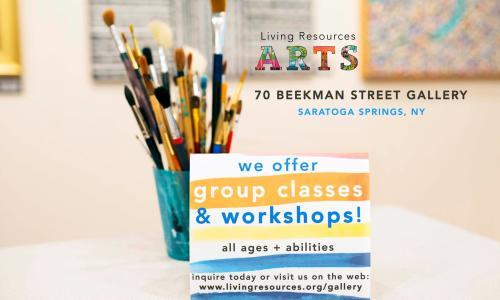 Living Resources Arts Workshop Poster