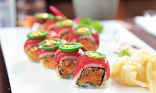Wasabi Restaurant salmon roll