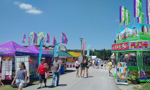 Saratoga County Fair midway