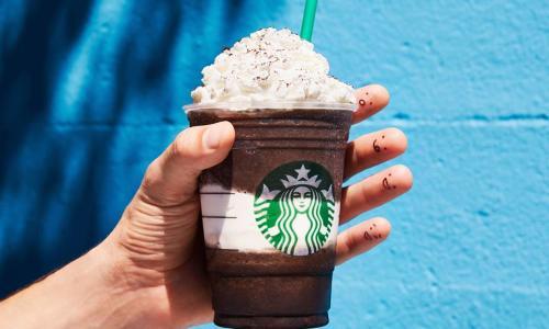 Starbucks Cafe, The Saratoga Hilton, chocolate ice cream drink