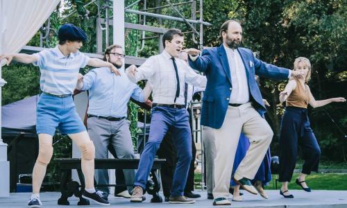 Saratoga Shakespeare Co. actors dancing