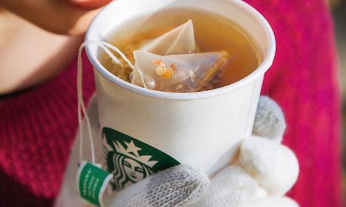Starbucks Cafe, The Saratoga Hilton, hot tea