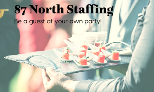 87 North Staffing Business Card with waiter