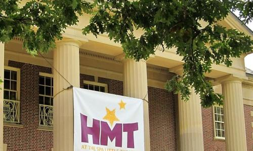 Home Made Theater HMT Sign on Bldg
