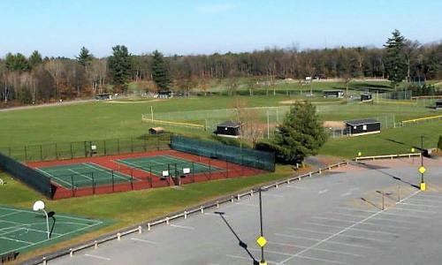 Gavin Park Tennis Court Aerial
