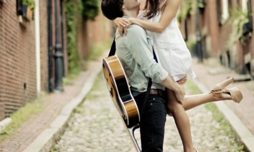 The Harris Co. Couple with Guitar