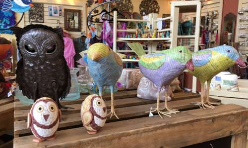 Owls, elephants, birds, giraffes and more...we have whimsical animals from all over the world