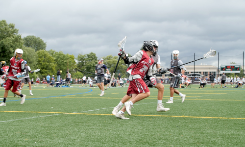 Original Vessel LAX players during a game