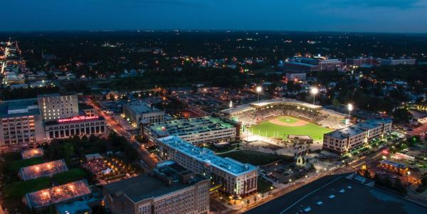 Parkview Field Aerial Night