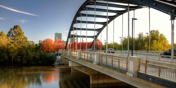 Martin Luther King Jr Bridge in Fall