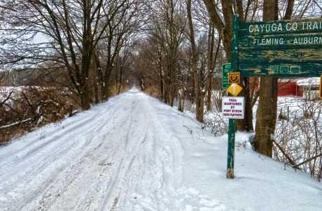 Auburn-Fleming Trail in the Winter