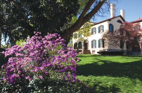 Seward House Museum in the Spring