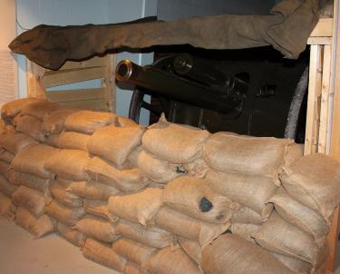 WWI gun pit at Royal Canadian Artillery Museum on CFB Shilo, Manitoba