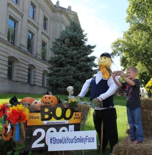This scarecrow was one of our favorites!