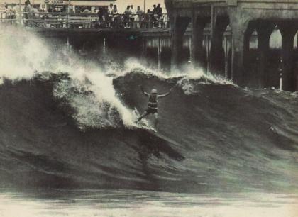 Jack Haley surfing Huntington Beach (Courtesy of Haley Family Archive)