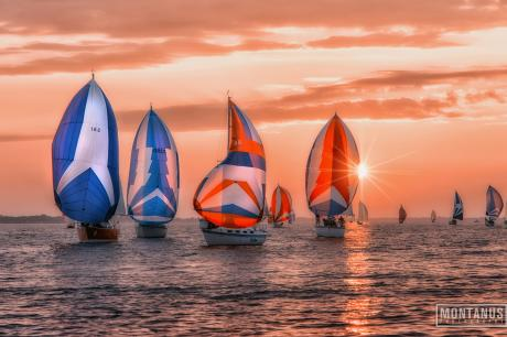 Sailboats on Lake Ontario in Rochester, NY