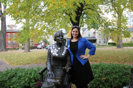Woman pays tribute to Susan B. Anthony