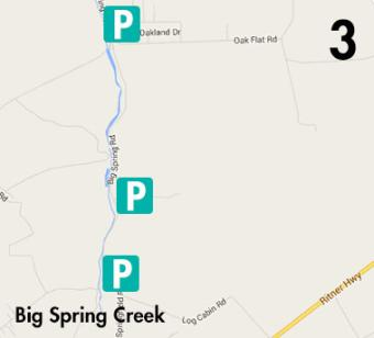 Big Springs Fishing Map