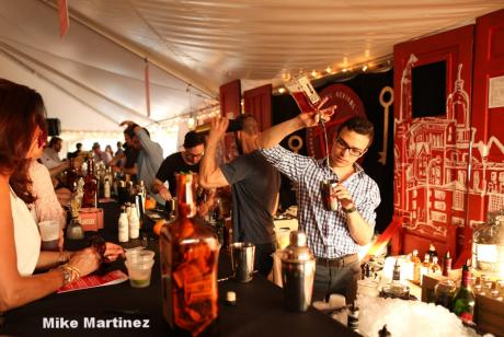 mixologist dazzle guests with speciality drinks at the Rochester Cocktail Revival