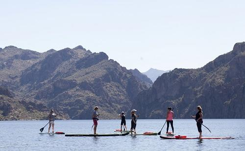Paddle Boarding Saguaro Lake