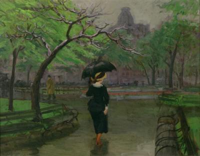 John Sloan Spring Rain