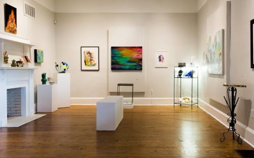 Spruill Gallery Interior with Art