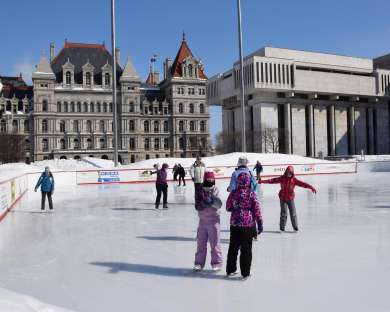 Ice Skate at Empire State Plaza Ice Rink