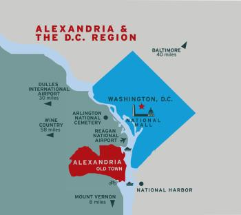 Map of Alexandria and DC Region