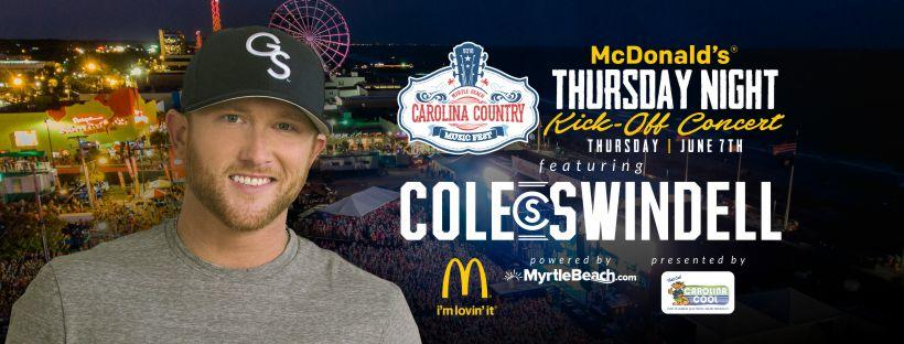 CCMF McDonald's Thursday Night Kick-Off Concert with Cole Swindell