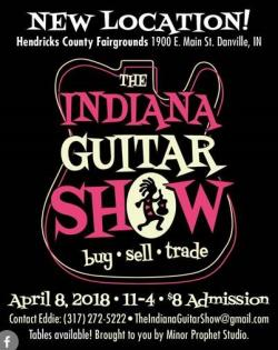 The 2018 Indiana Guitar Show will feature a new location in Hendricks County.