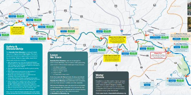 Roanoke River Blueway Map