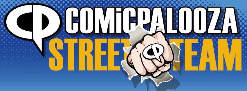 Comicpalooza Street Team Logo