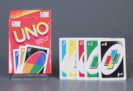 Uno card game in box
