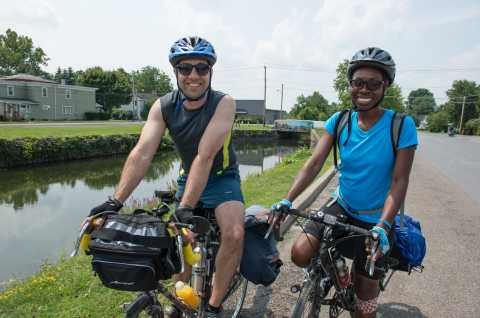 Biking along the Old Erie Canal