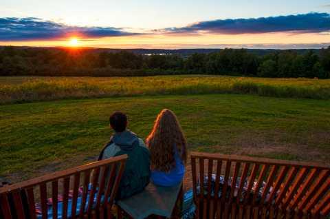 Stone Quarry Hill Art Park Sunset 1