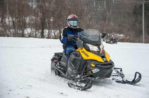 Yellow Snowmobile