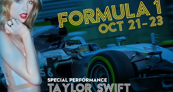 Formula 1 2016 poster with Taylor Swift