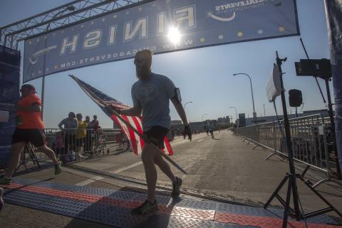 Rockford Marathon American Flag